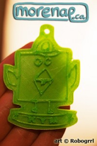 personalized robobbrd token, print courtesy of Kym
