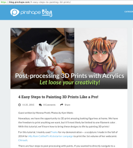 Pinshape Painting tutorial