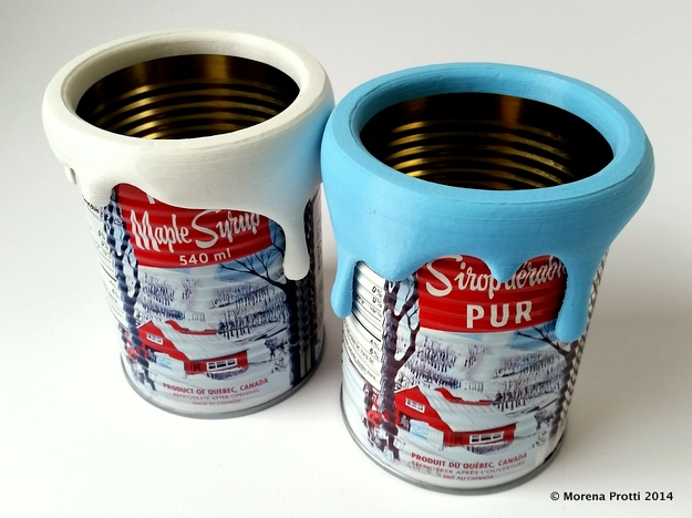 3D printed PAINT on Maple Syrup CAN = Pencil Holder!