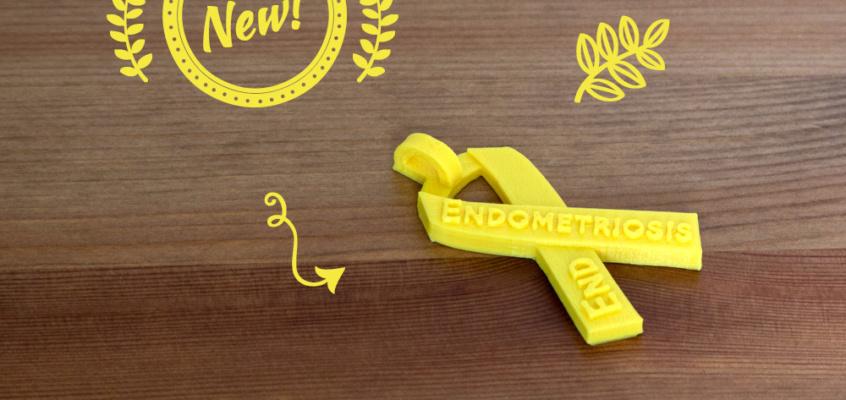 End Endometriosis Awareness Ribbon – NEW Font!